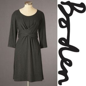 Boden Charcoal Gray Emma Tunic Dress 8